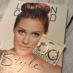 3/$20 NWT LC Lauren Conrad Gold Tone Hoop Earrings